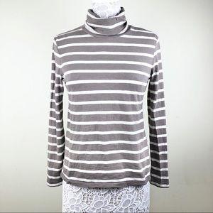 Madewell Stripe Turtleneck Women's Size Medium